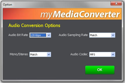 Audio Conversion Options