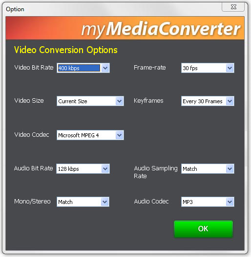 Video Conversion Options